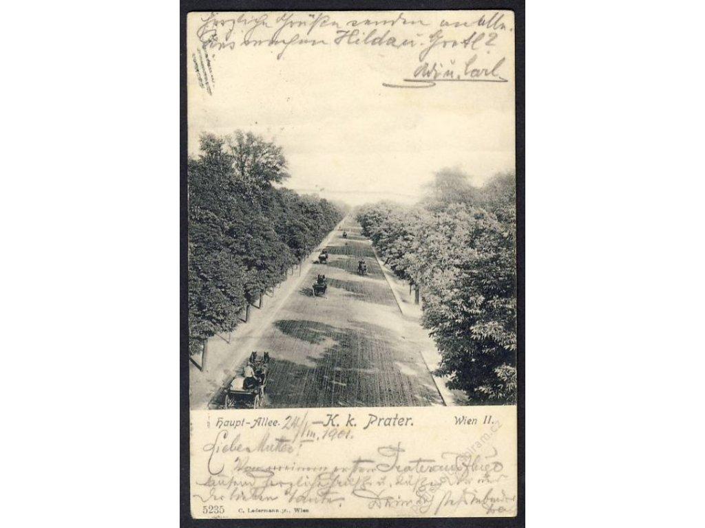 Österreich, Wien, Haupt-Allee, K. k. Prater, cca 1900