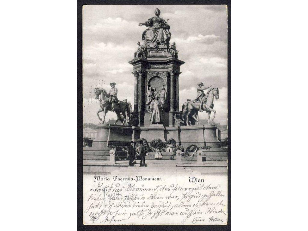 Österreich, Wien, Maria Theresia-Monument, cca 1902