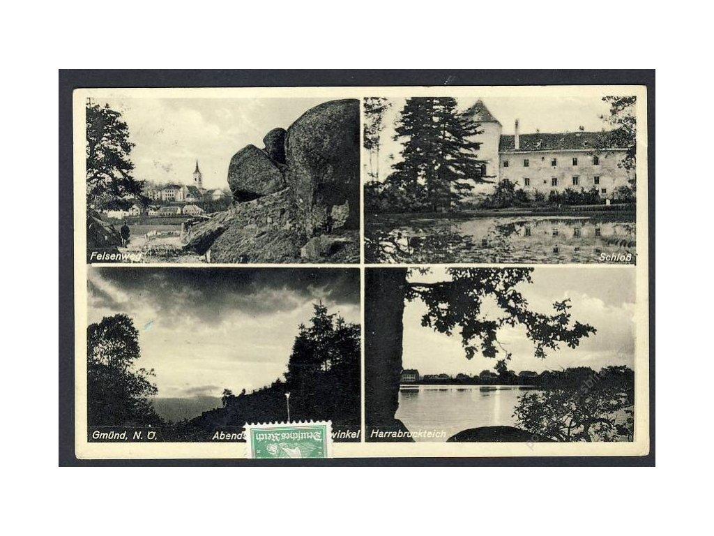 Österreich, Felsenweg, Schloss, Gmünd, Harrabruckstein, cca 1938
