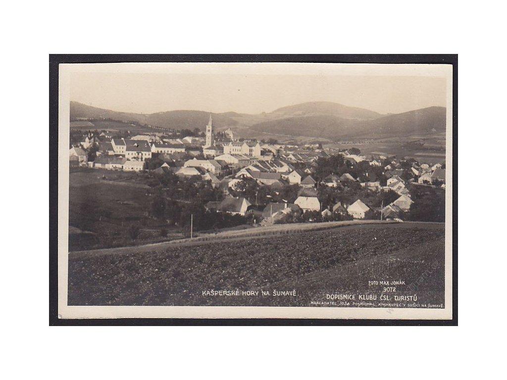 28 - Šumava, Kašperské hory, foto Fon, cca 1925