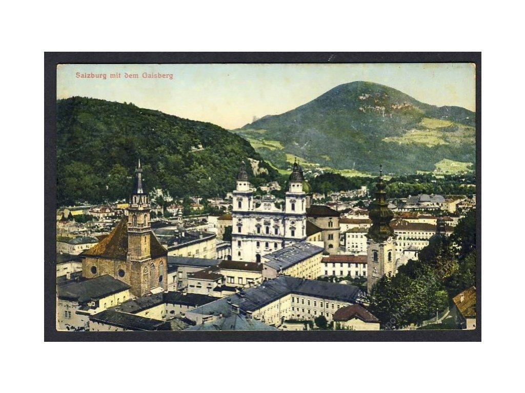 Österreich, Salzburg mit dem Gaisberg, cca 1911