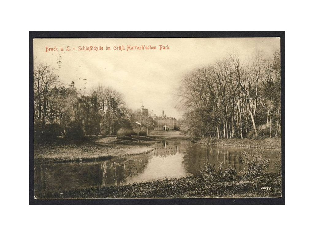 Österreich, Bruck a. L., Schlossidylle im Gräfl. Harrach´schen Park, cca 1913