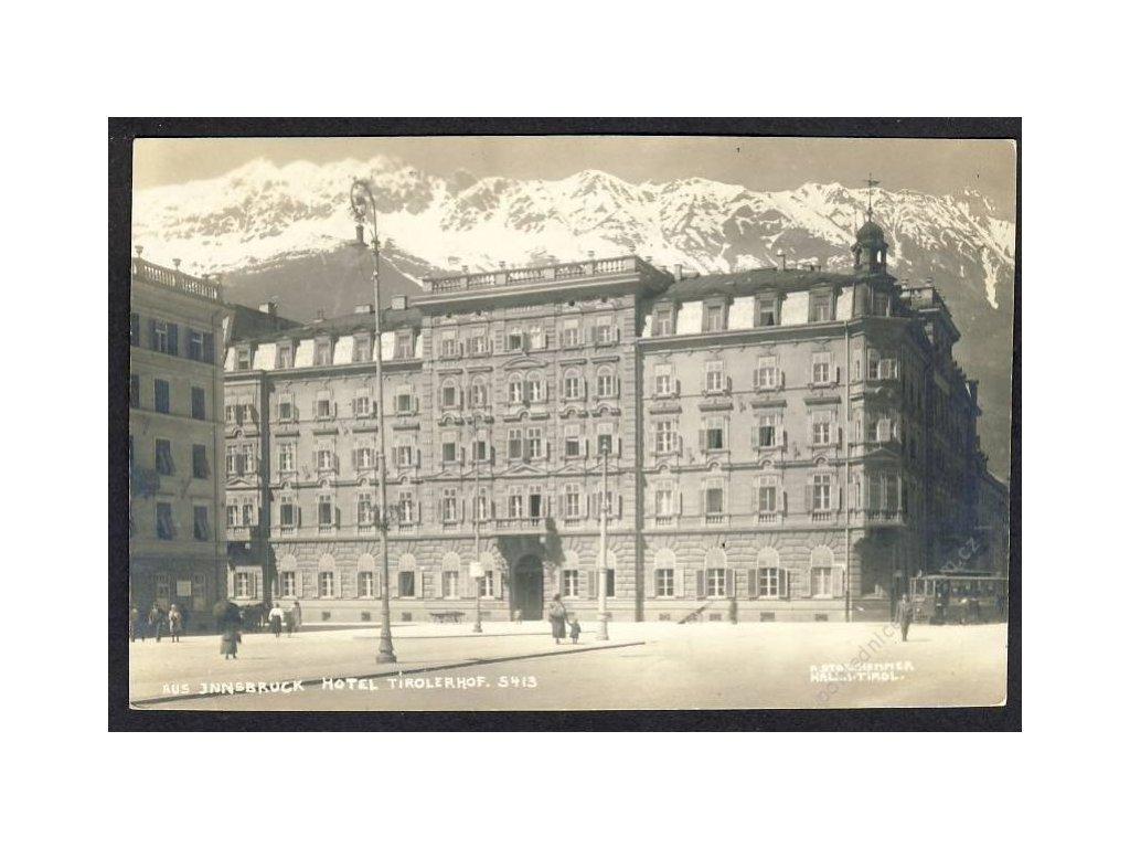 Österreich, Innsbruck, Hotel Tirolerhof, cca 1922