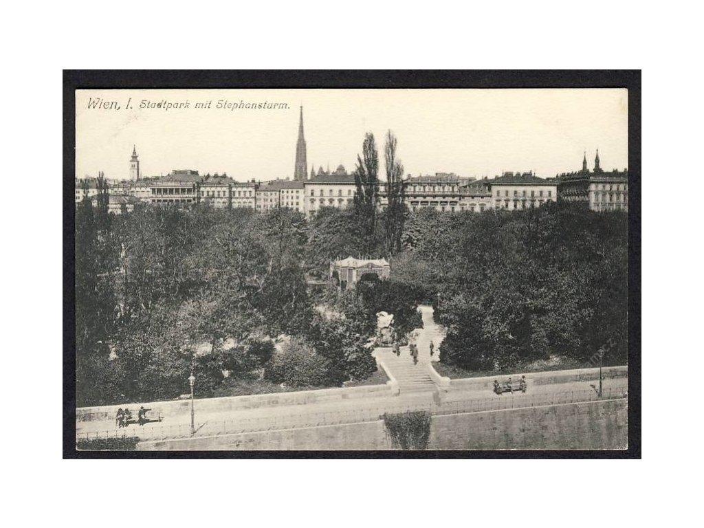 Österreich, Wien, Stadtpark mit Stephansdom, cca 1922
