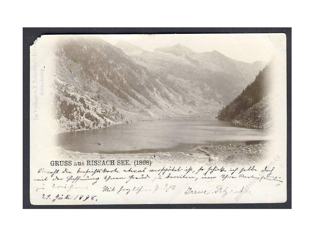 Österreich, Gruss aus Rissach See, cca 1898