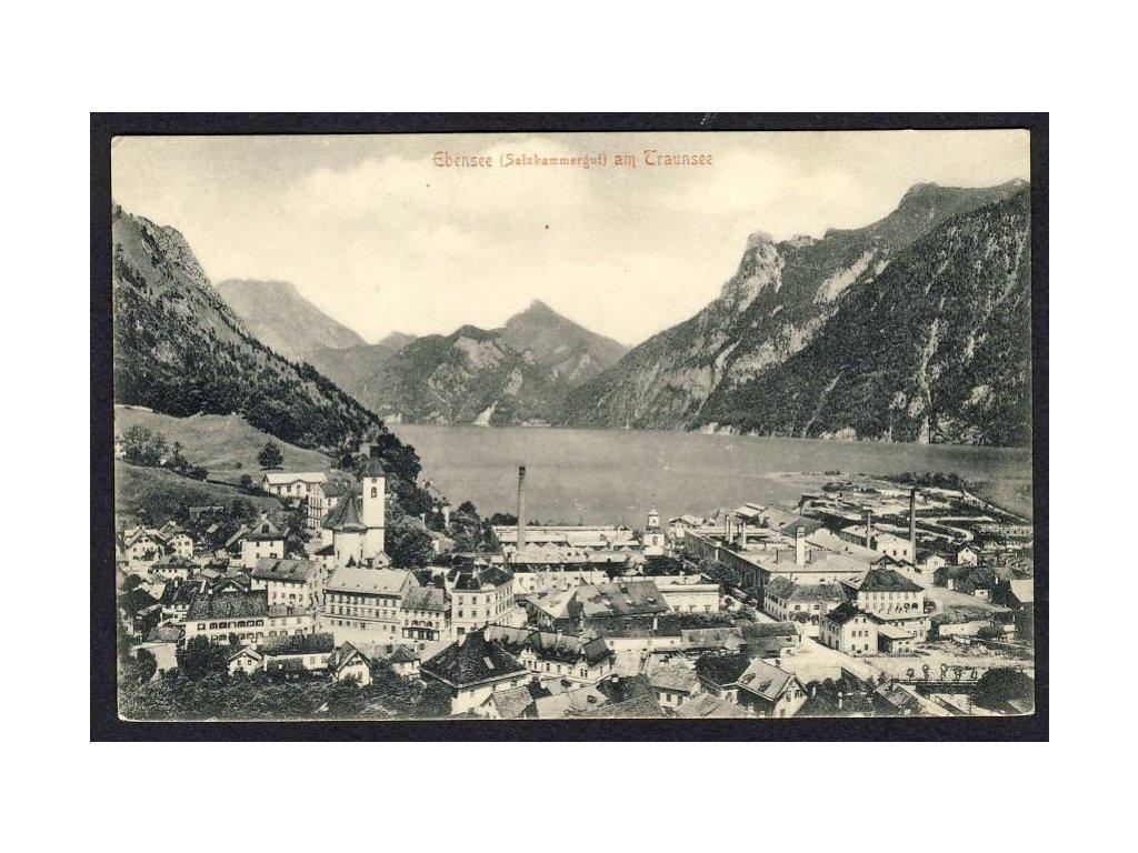 Österreich, Ebensee am Traunsee, cca 1908