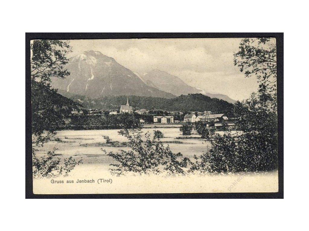 Österreich, Gruss aus Jenbach, cca 1904