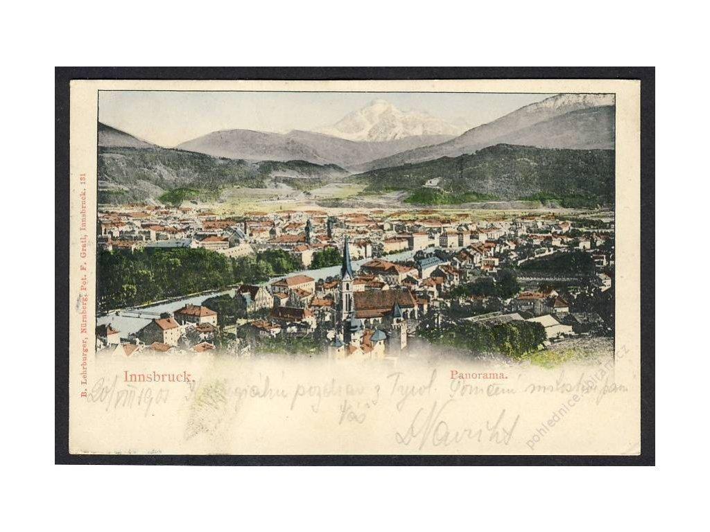Österreich, Innsbruck, Panorama, cca 1900