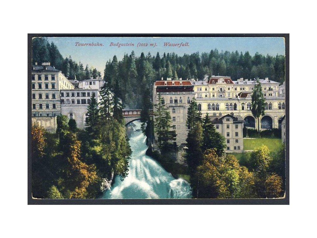Österreich, Tauernbahn, Badgastein, Wasserfall, cca 1911