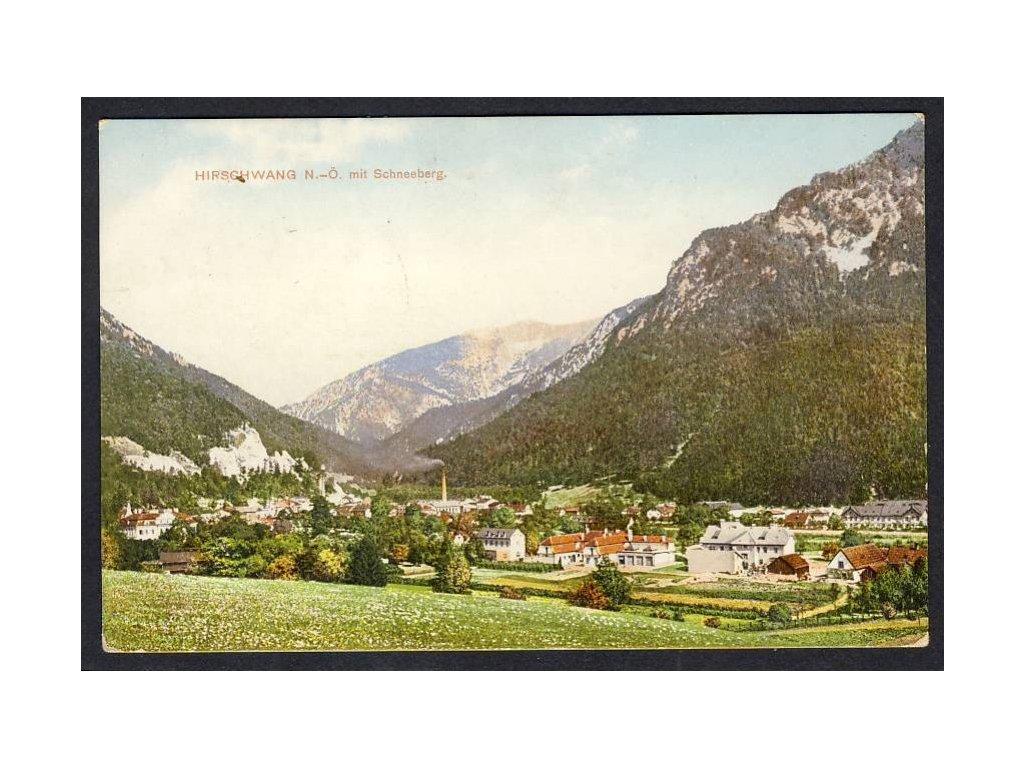 Österreich, Hirschwang mit Schneeberg, cca 1927