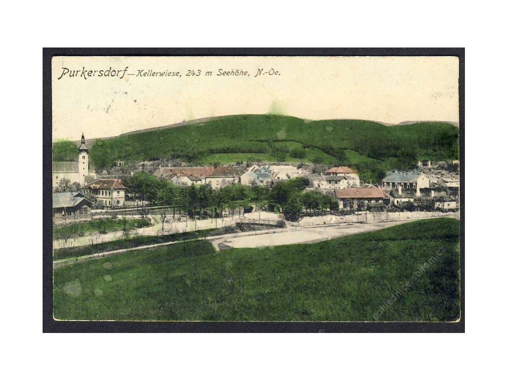 Österreich, Purkersdorf, Kellerwiese, cca 1910
