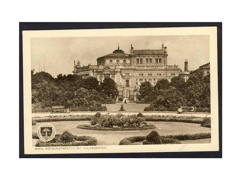 Österreich, Wien, Hofburgtheater mit Volksgarten, cca 1925