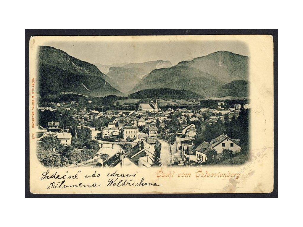 Österreich, Ischl vom Calvarienberg, cca 1906