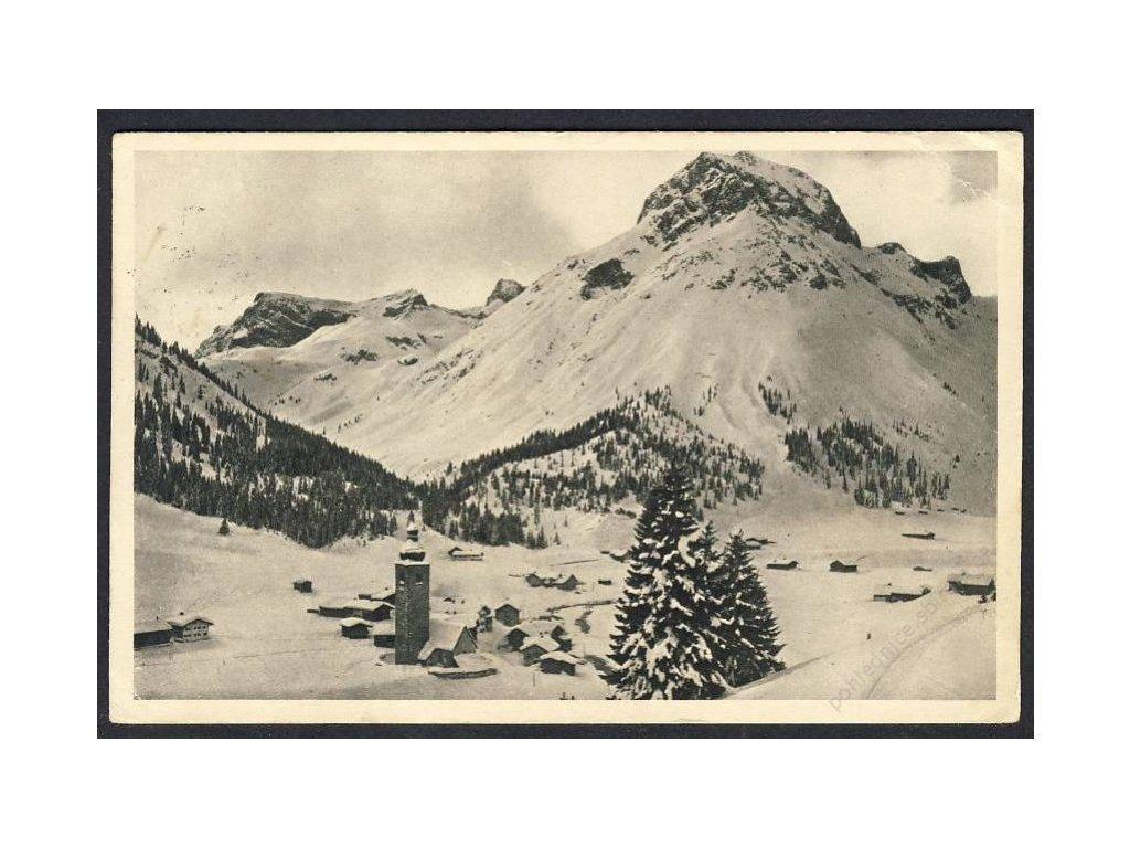 Österreich, Winter im Hochgebirge, Lech, Vorarlberg, cca 1929