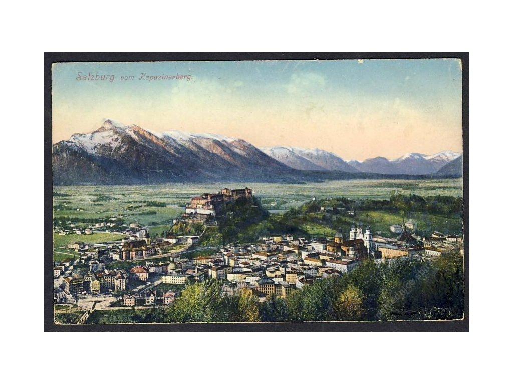 Österreich, Salzburg vom Kapuzinerberg, cca 1916