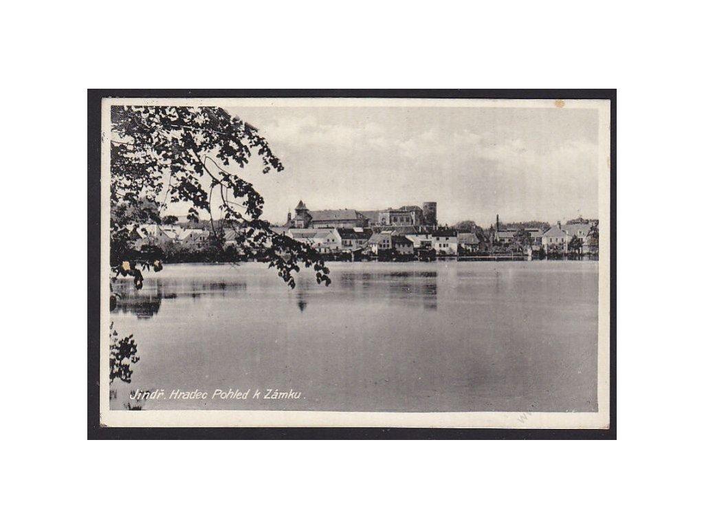 24 - Jindřichův Hradec, pohled k zámku, cca 1934