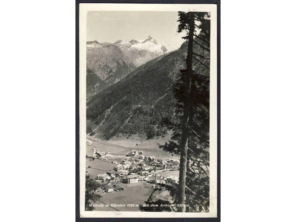 Österreich, Mallnitz in Kärnten mit dem Ankogel, cca 1935