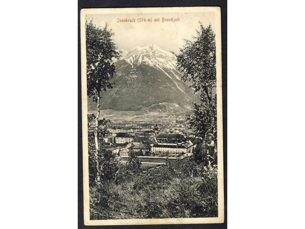 Österreich, Innsbruck mit Brandjoch, cca 1918