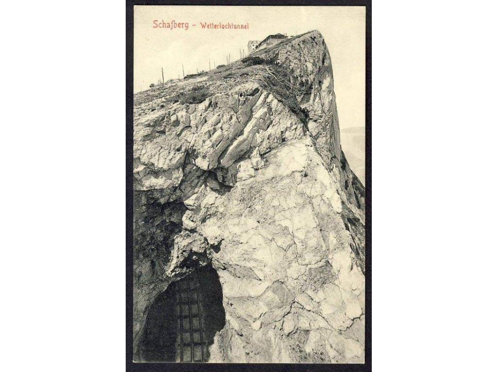 Österreich, Schafberg, Wetterlochtunnel, cca 1908