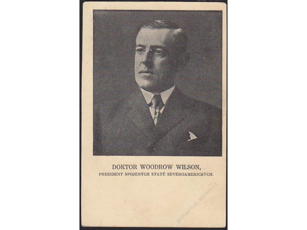 W. Wilson - prezident USA, cca 1925
