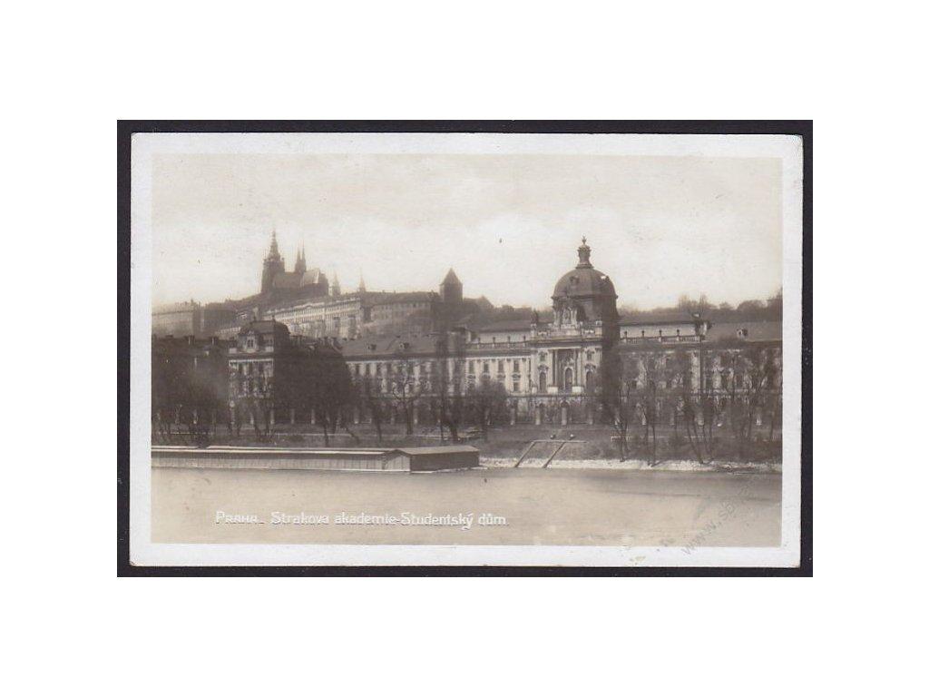 49 - Praha, Strakova akademie, Studentský dům, cca 1930