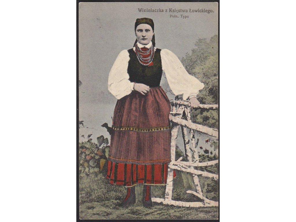 Žena v polském kroji, cca 1915