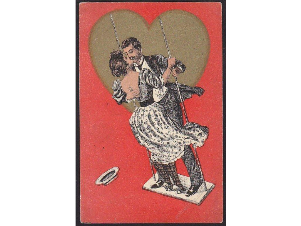 Umělecká, milenci na houpačce, cca 1900