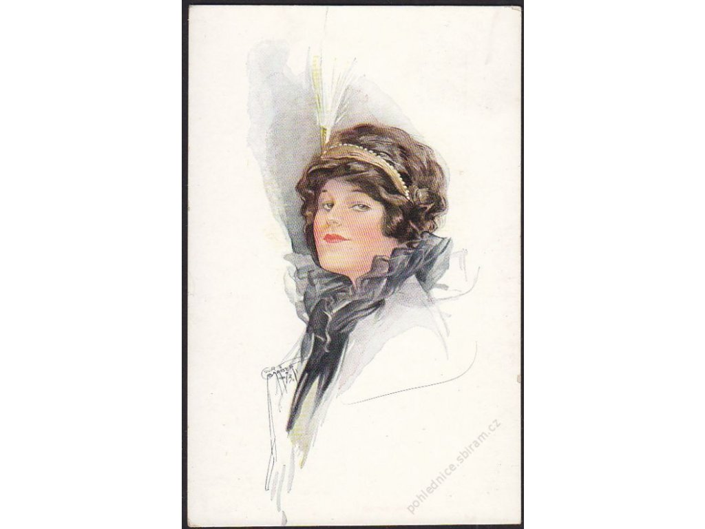 Dáma s čelenkou, cca 1910