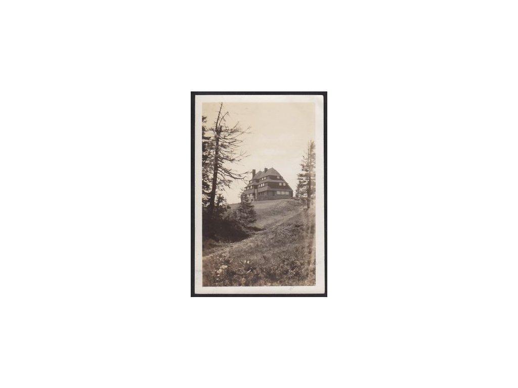 57 - Rychnov nad Kněžnou, Orlické hory, Masarykova chata na Šerlichu, cca 1930