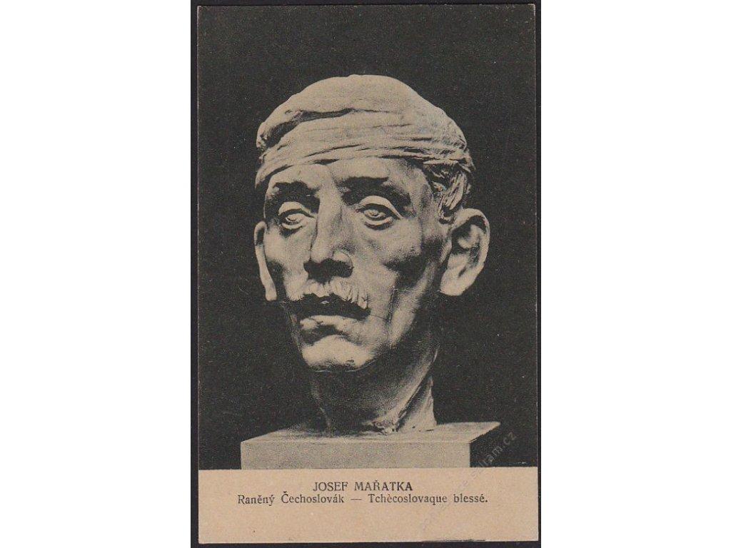 Josef Mařatka, Raněný Čechoslovák, cac 1920