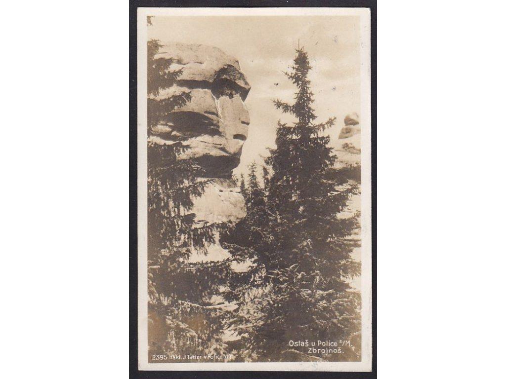 38 - Náchodsko, Ostaš u Police nad Metují, Zbrojnoš, foto Fon, cca 1930