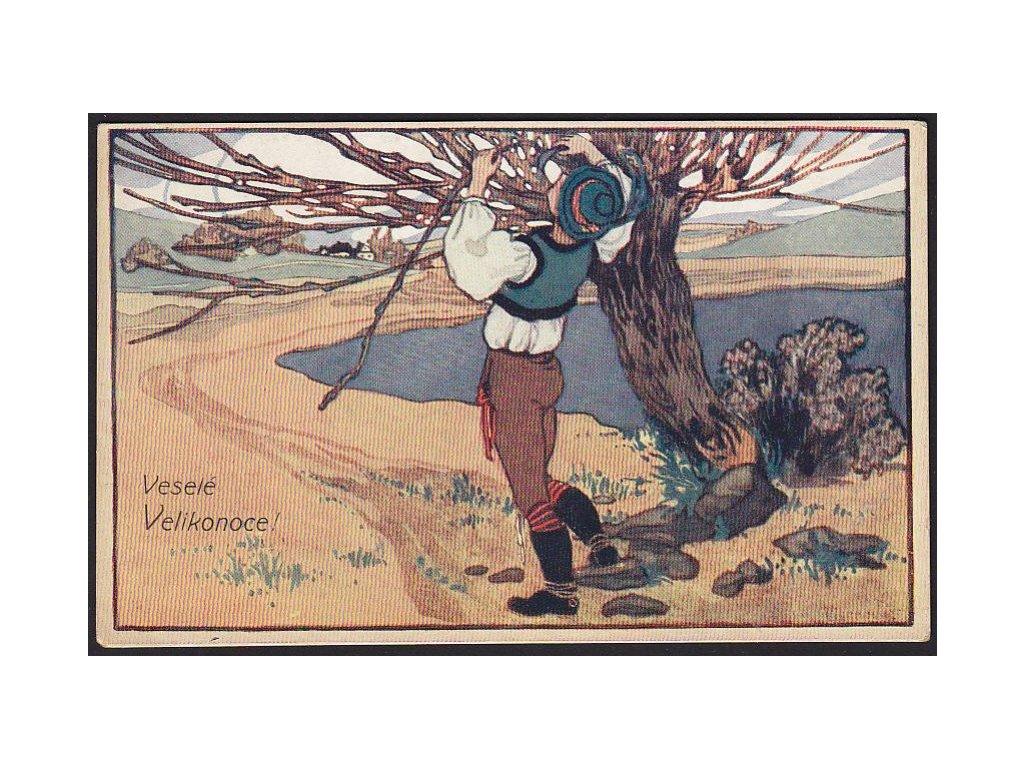 Veselé Velikonoce, Na proutí, cca 1920