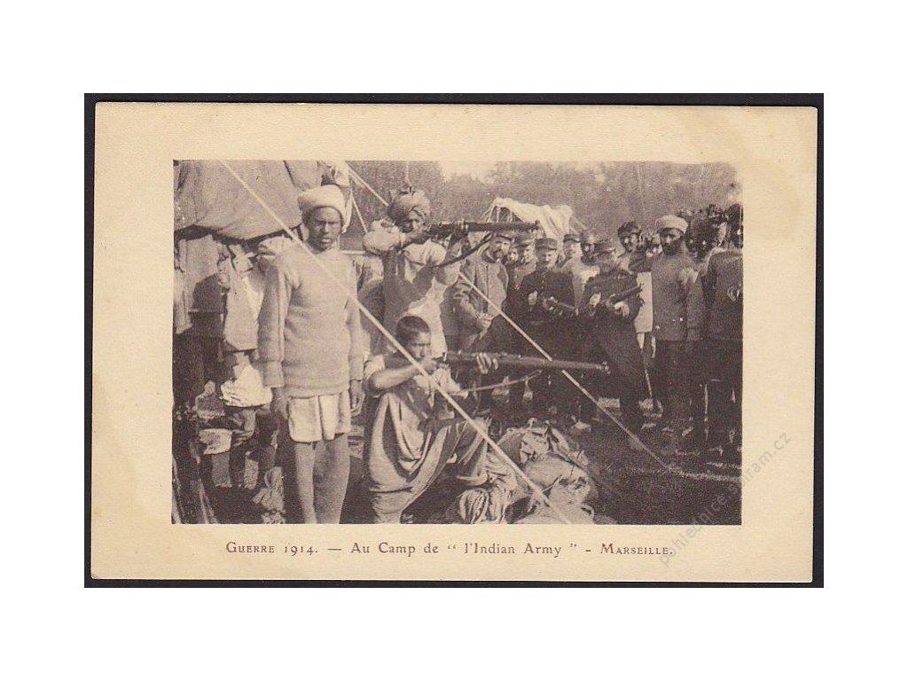 Indická armáda, Marseille, cca 1914