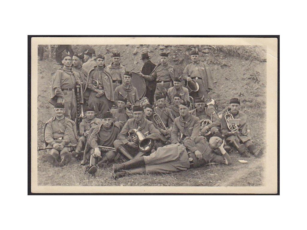 Vojáci, kapela, cca 1930