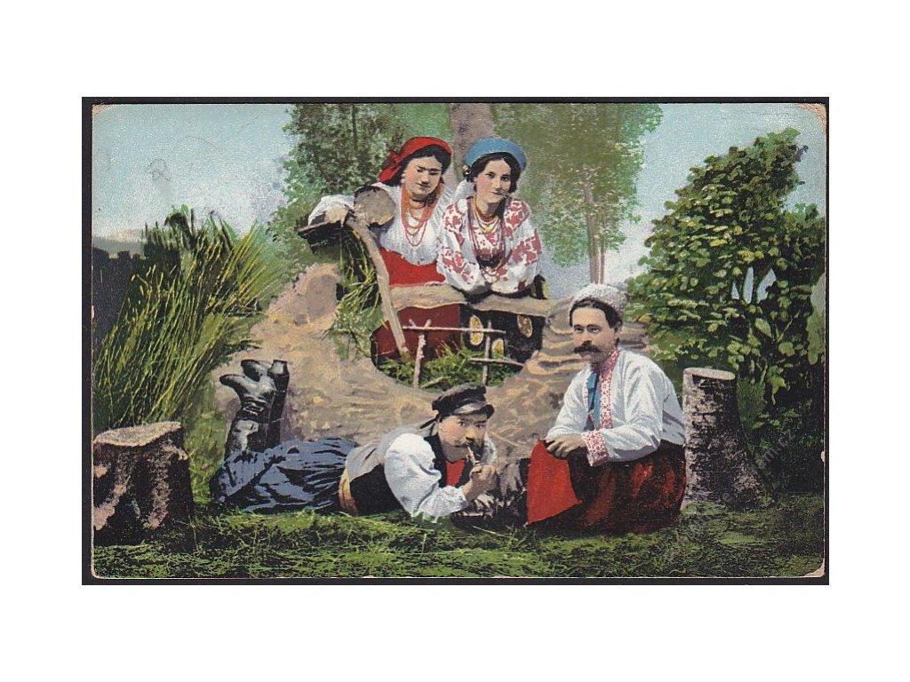 Ukrajinské kroje, cca 1918