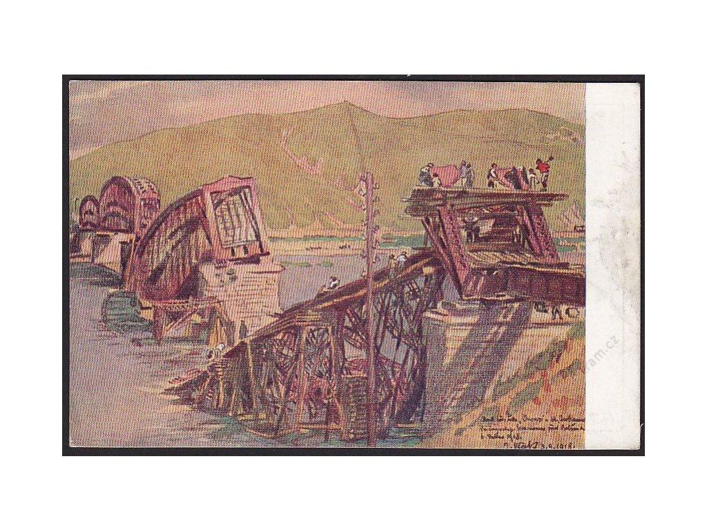 Vlček: Most přes řeku Onon, cca 1920