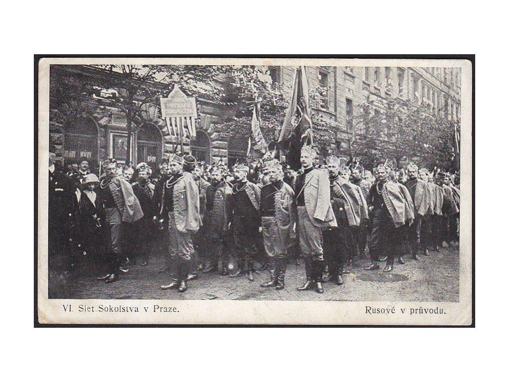 Sokol, VI. Slet Sokolstva v Praze, Rusové v průvodu, cca 1912