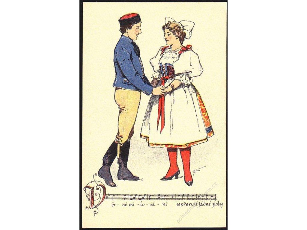 Obraz z opery Prodaná nevěsta, cca 1919