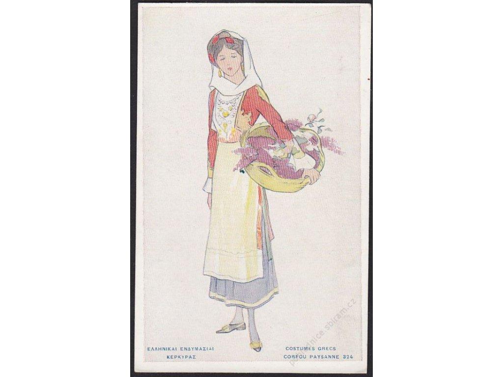 Řecký kroj, Paysanne, cca 1910