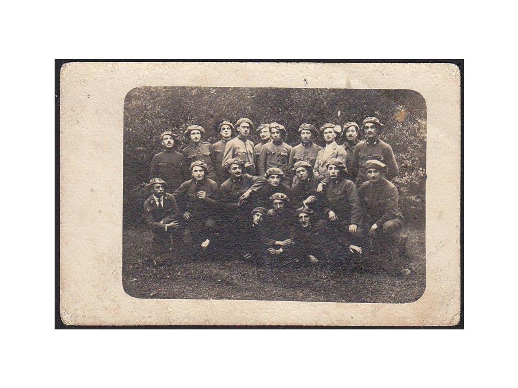 Čs. legionáři, skupinové foto, cca 1915