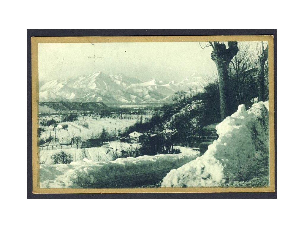 Italien, Winterlandschaft, cca 1930