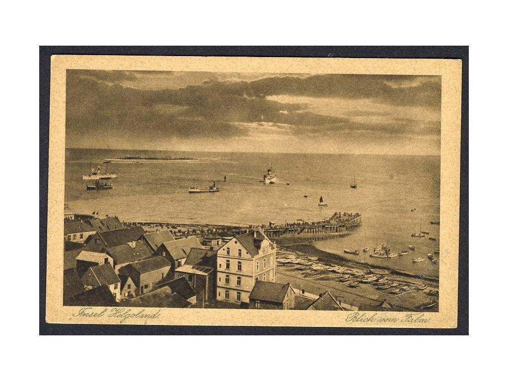 Deutschland, Insel Helgoland, Blick vom Falm, cca 1930