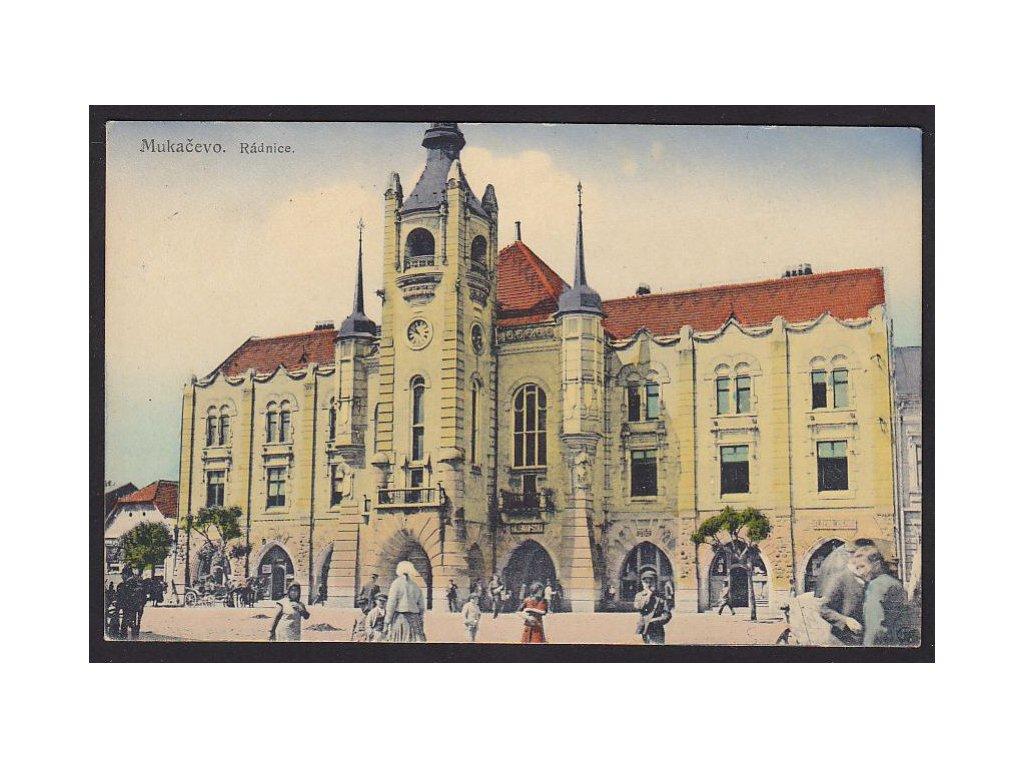 Ukraine, Mukachevo, townhall, cca 1925