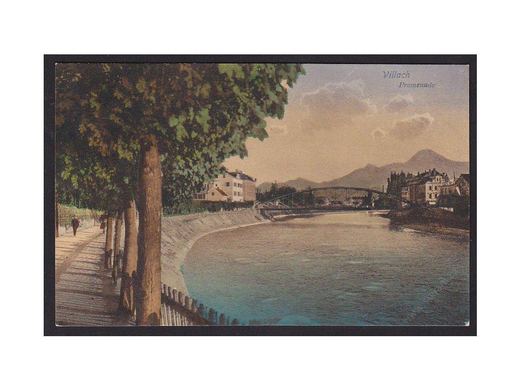 Austria, Carinthia, Villach, promenade, cca 1925