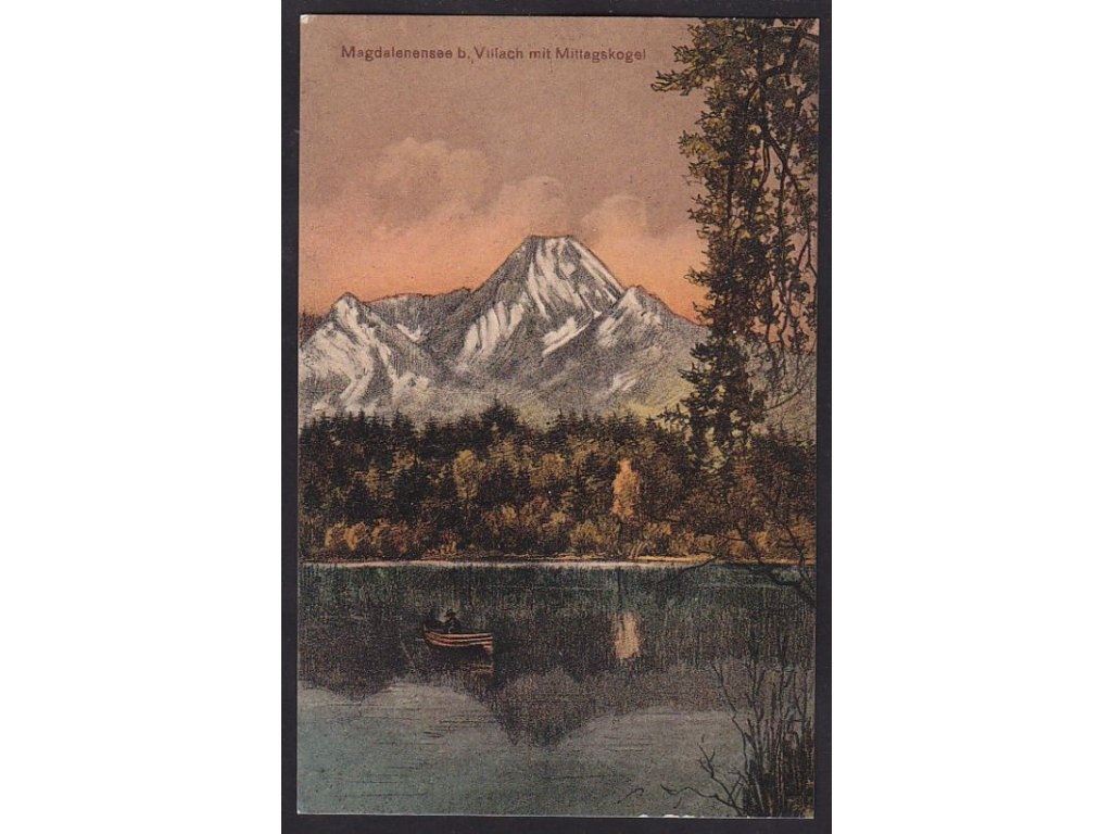 Austria, Carinthia, Villach, Magdalensee and Kepa, cca 1915