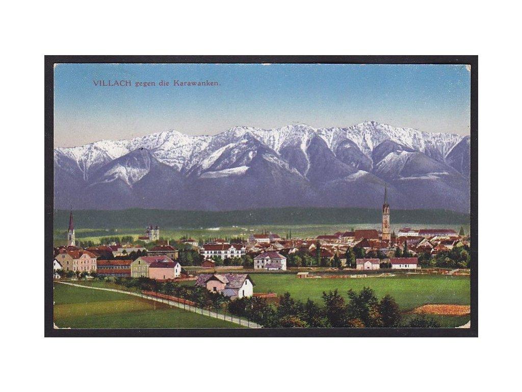 Austria, Carinthia, Villach with Karawanks, cca 1916
