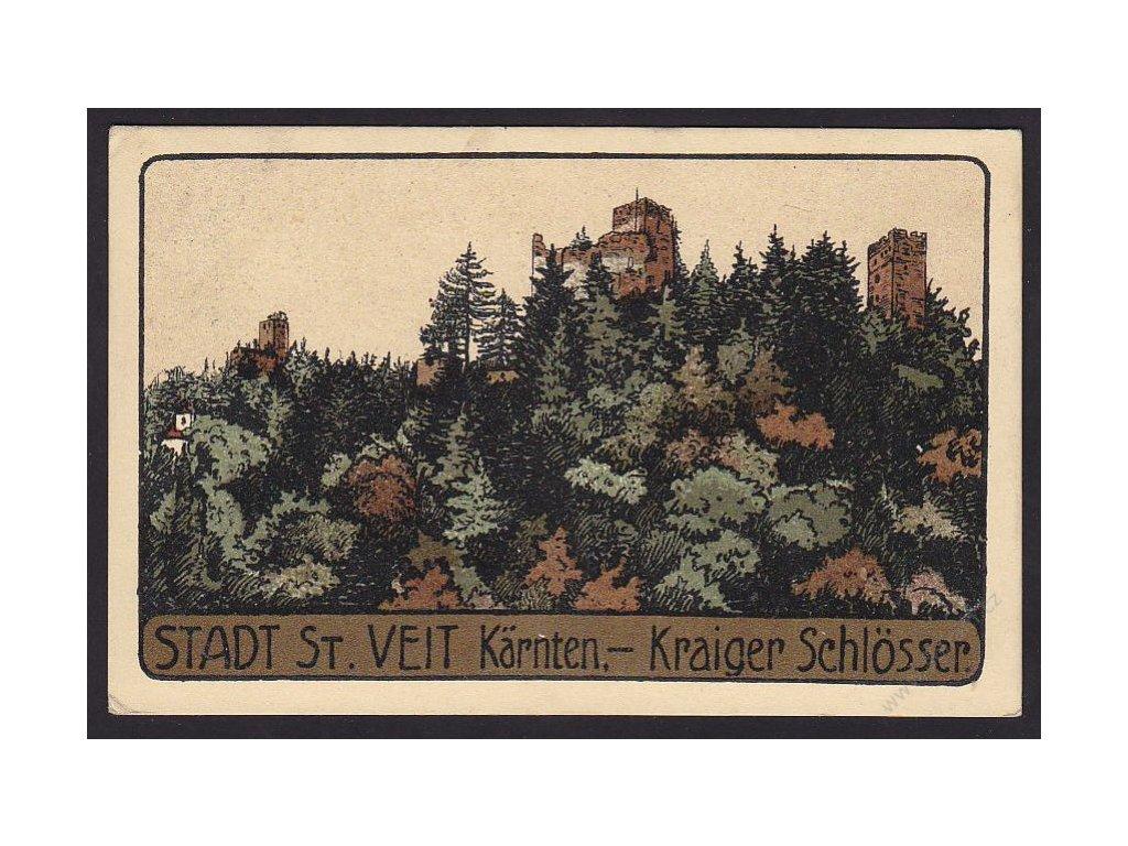 Austria, Carinthia, Sankt Veit, Kraiger Schlösser, cca 1916
