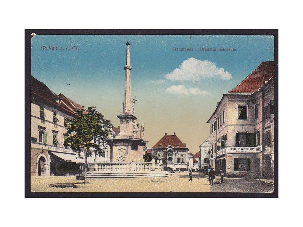 Austria, Carinthia, Sankt Veit an der Glan, main square, cca 1916