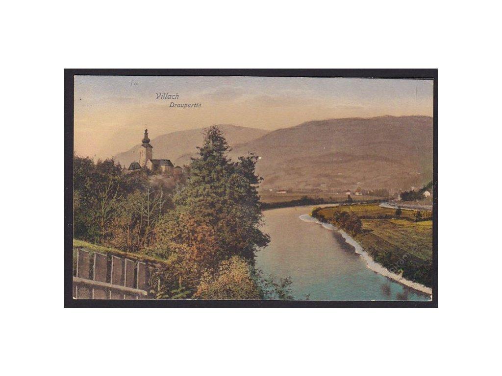 Austria, Carinthia, Villach, by river Drava, cca 1915