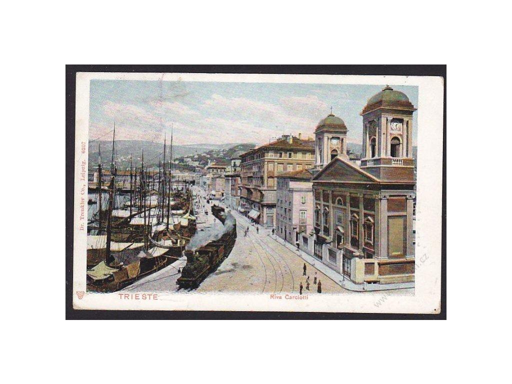 Italy, Trieste, River Riva Carciotti, cca 1910